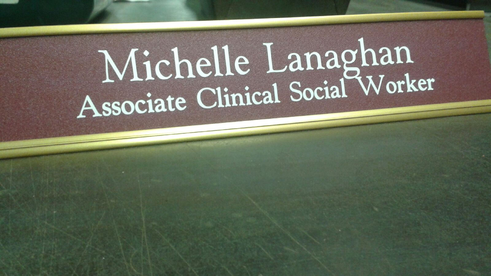 custom professional engraved nameplate